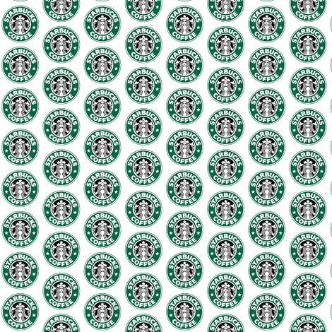 Starbucks Logo Fabric By Heartofstonecreations On
