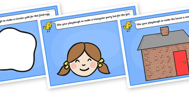 Twinkl Resources >> 2D Shape Playdough Mats  >> Thousands of printable primary teaching resources for EYFS, KS1, KS2 and beyond! playdough, playdough mats, playdough resources, 2D shapes, shape learning, shape names, shape pictures, shape words,