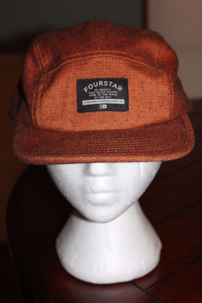 FOURSTAR Skateboard Hat SIGNATURE RUST COLOR SNAPBACK CAP #FOURSTAR