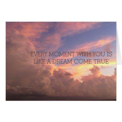"""dream come true"" sunset card - love cards couple card ideas diy cyo"