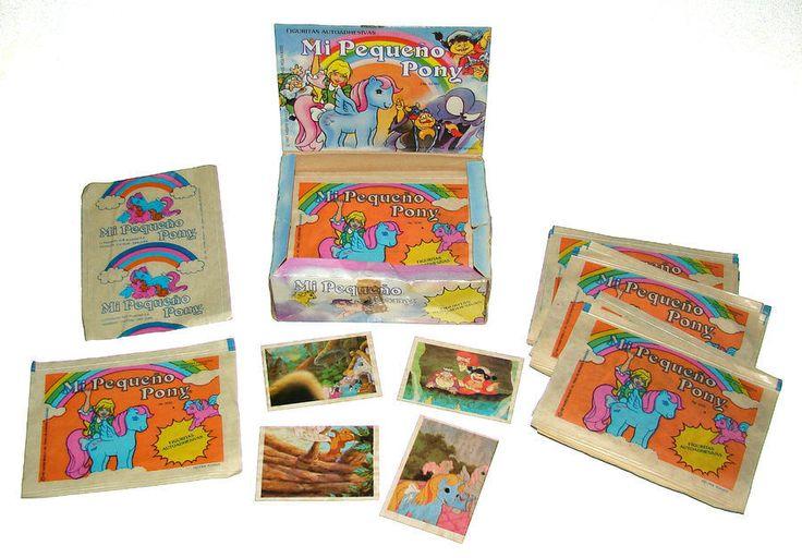 RARE Vintage My Little Pony Self-Adhesive Stickers Box of 50 Pkgs of 4 Argentina #Hasbro