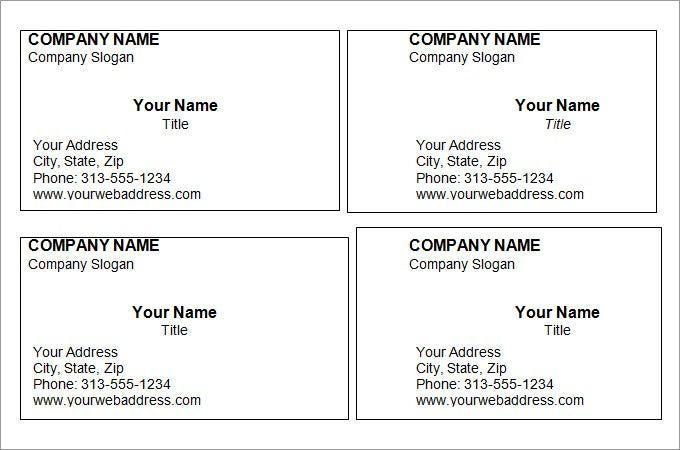 44+ Free Blank Business Card Templates - Ai, Word, Psd ...