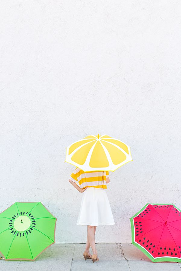 DIY Fruit Slice Umbrellas #scotchblue #3MPartner