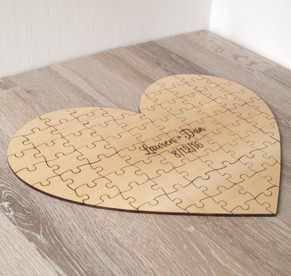 Wedding Guest Book Puzzle Guest Book by CorkCountryCottage on Etsy