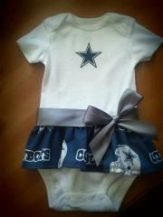 Dallas Cowboys inspired baby girl outfit on Etsy, $19.00...made me think of you, @cassandra325