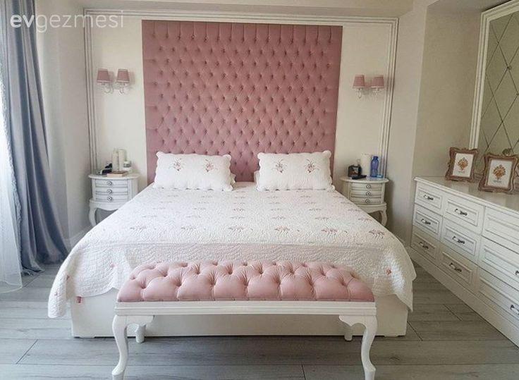Pembe, Puf, Yatak Odası, Yatak örtüsü