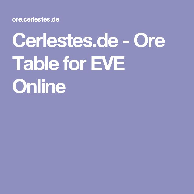 52 best eve online images on pinterest train trains and empire cerlestes ore table for eve online malvernweather Images