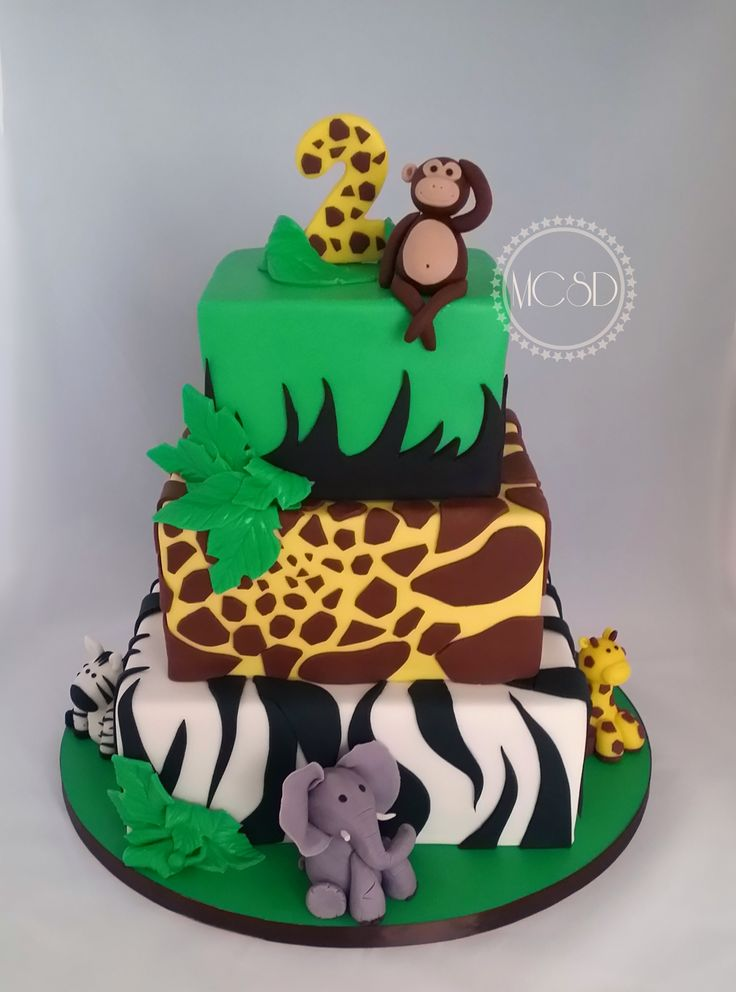 1000+ ideas about Jungle Birthday Cakes on Pinterest Zoo ...
