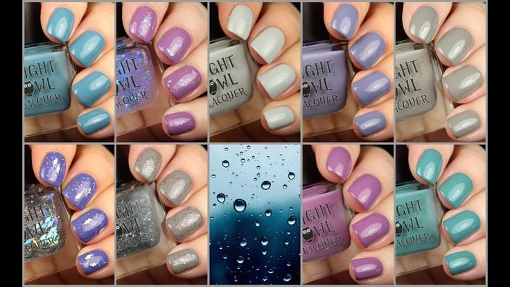 Night Owl Lacquer Pluviophile Collection Live