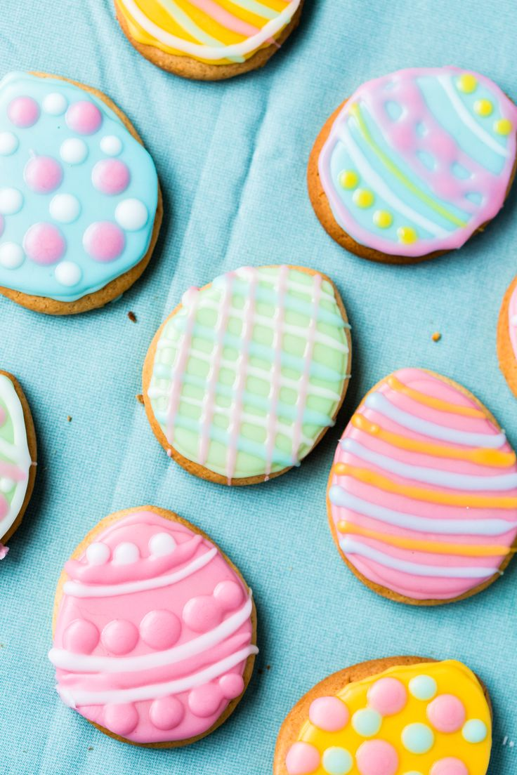 Beautiful Thermomix Easter egg biscuits. Perfect recipe to make with the kids.