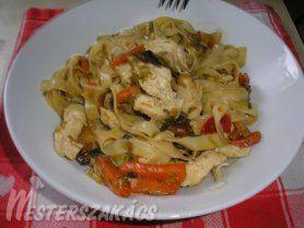 Kínai zöldséges csirke wokban recept