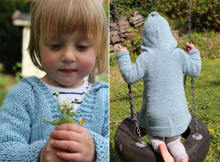 Plain Girlie Hoodie - free knitting pattern - Pickles