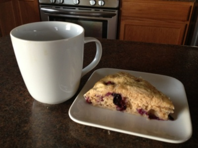 my low fat blueberry scone recipe with coffee