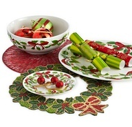 Create the ultimate holiday welcome with Beaded Placemats and Red Ribbon Serveware from Pier 1