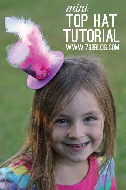 seven thirty three - - - a creative blog: Mini Foam Top Hat Tutorial
