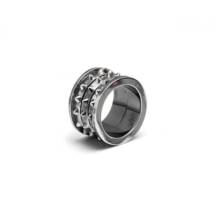 Mens Rotating 3 Studded Band by MFP SS13 Pre-Order, Designer MFP SS13 Pre-Order Jewellery, Kabiri Jewellery Store Online