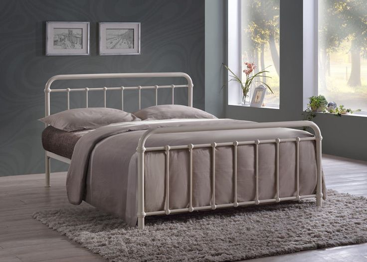 details about miami hospital style black ivory 3ft single 4ft6 double 5ft king metal bed frame - White Metal Bed Frame