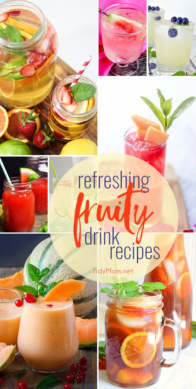 649 best images about easy recipes on for Easy fruity mixed drinks