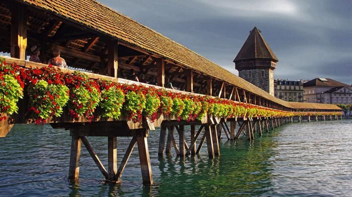 Kapellbrücke, Lucerne, Switzerland