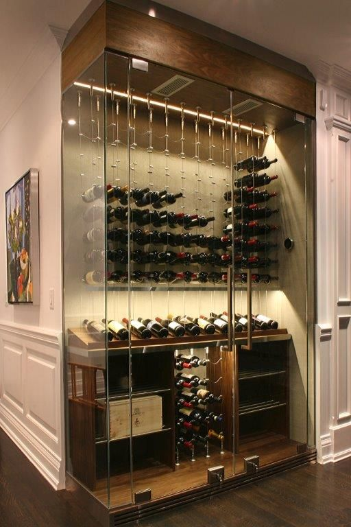 Evolution Wine Rooms Custom Wine Cellar Cable Wine System