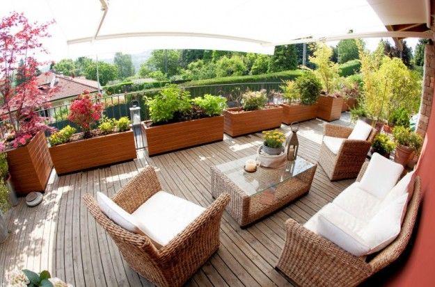 windschutz f r den balkon ideen pflanzen hecken holz pflanzkuebel balkon pinterest. Black Bedroom Furniture Sets. Home Design Ideas