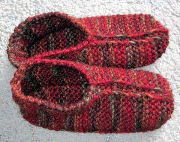 59 Best Knitted Socks Slippers Images On Pinterest Knit Slippers