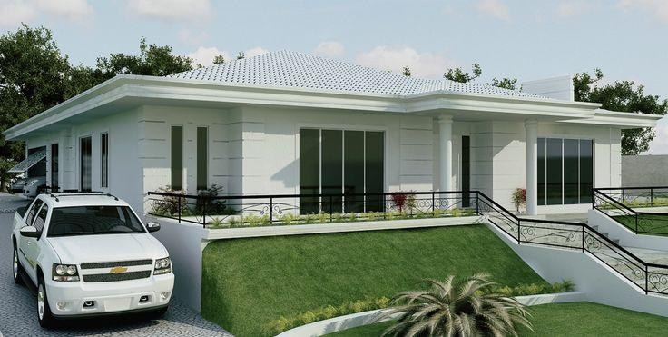 Images of fachada de casas bonitas e planta baixa ptax for Fachadas de casas modernas 3 cuartos