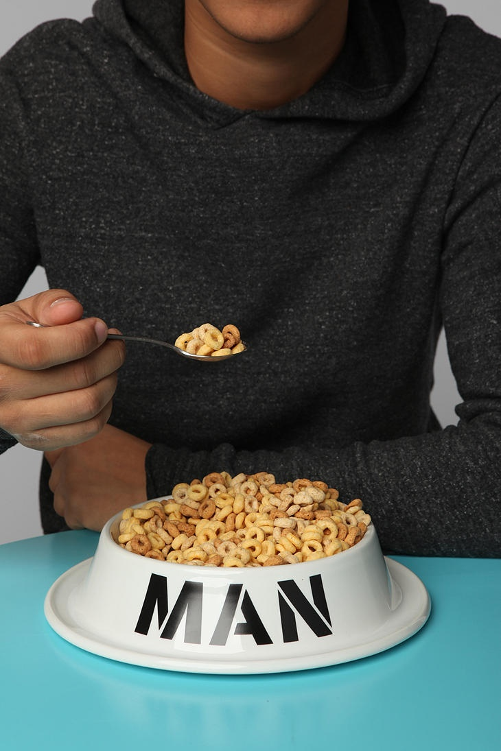 The man bowl