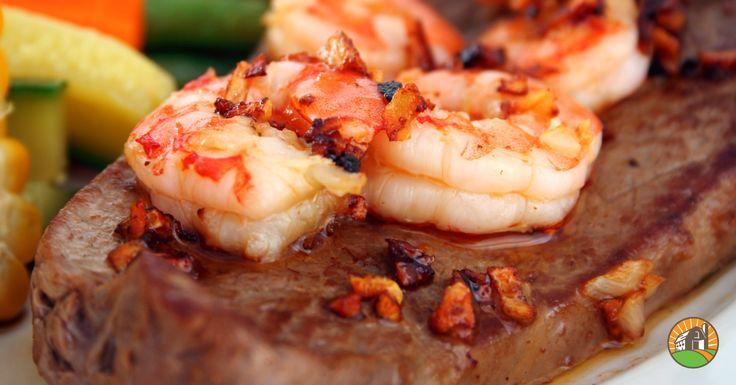The ultimate Surf 'n Turf combo is right here!  Angus Ribeye Steaks and Wild Red Argentine Shrimp. The best of the land and sea!