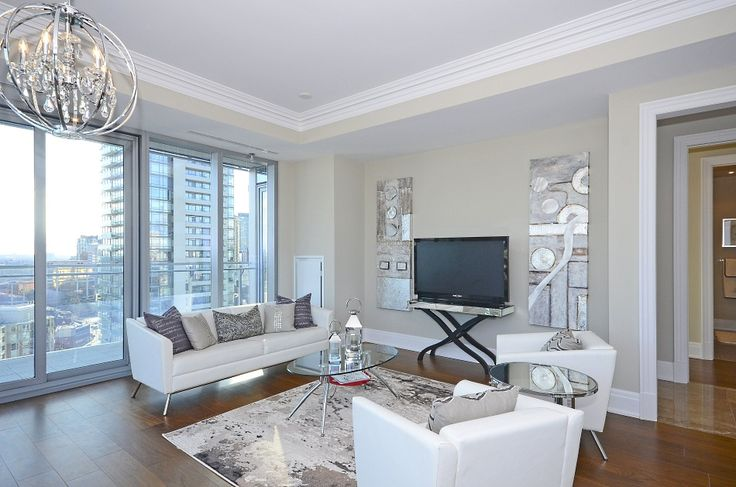 Four Seasons Private Residences Yorkville Toronto Luxury Condos Apartment 1902 Living Room 55 Scollard St Victoria Boscariol Chestnut Park Real Estate