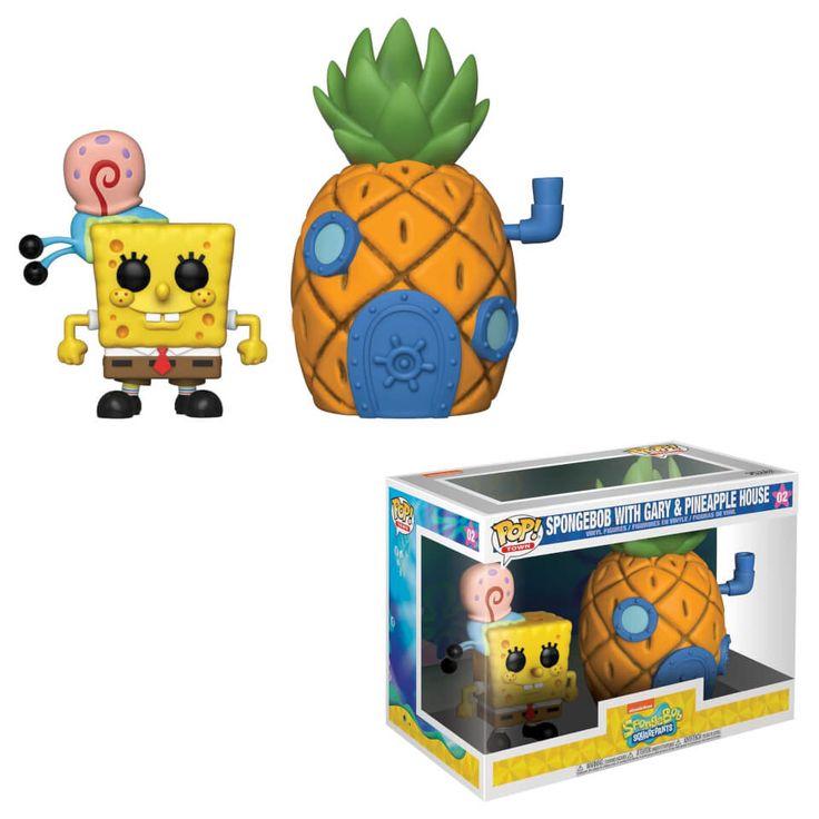 Funko Pop ! Figurine Town Bob L'Eponge Carré avec Ananas