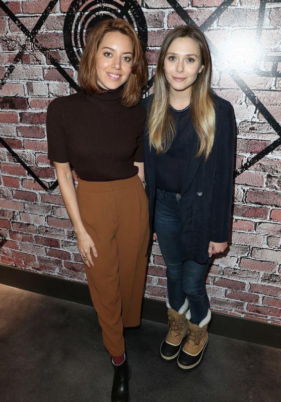 dailyactress:    Aubrey Plaza & Elizabeth Olsen  Creators League Studio at the Sundance Film Festival 2017