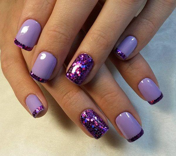 Purple Christmas Nail Art Designs Ideas For Winter Purple Nail