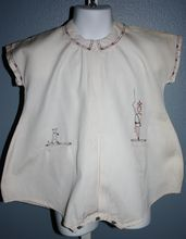 Homespun baby romper with embroidery work, 1920's.
