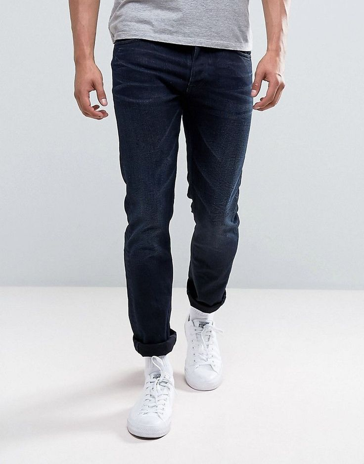 Nudie Jeans Co Tilted Tor Jean Skinny Fit Indigo River Dark Wash - Nav