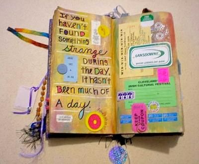 Pat via Lost and Found blog: Journal Ideas, Art Journal Scrapbook, Journal Inspiration, Art Journals, Journaling Ideas, Artsy Journals, Artjournals, Artistic Smash Journals, Art Journaling