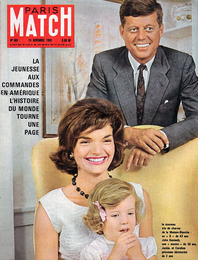 Paris Match 1960 606 Kennedy