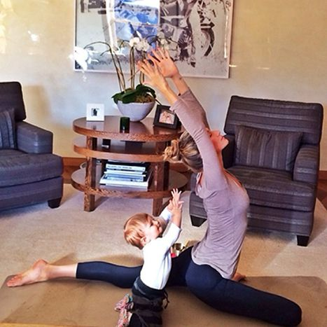 Gisele Bundchen strikes another yoga pose with her daughter Vivian.