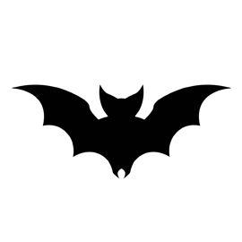 Bat Silhouette Stencil D