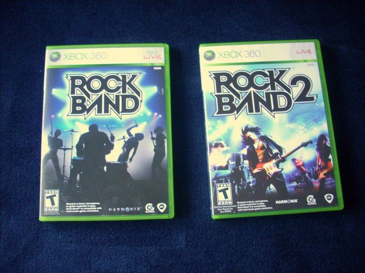 Rock Band & Rock Band 2 XBOX 360 2 games!  MINT COMPLETE! MAIL IT TOMORROW