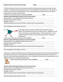 Darwin Natural Selection Worksheet  Classroom  Pinterest  Natural and Worksheets
