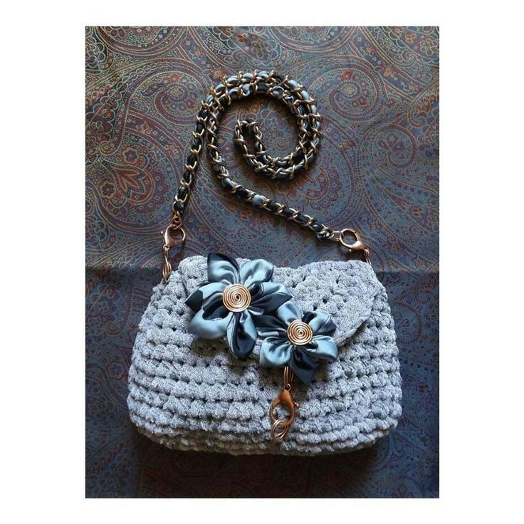Crochet bag flower IRIDESIGNS