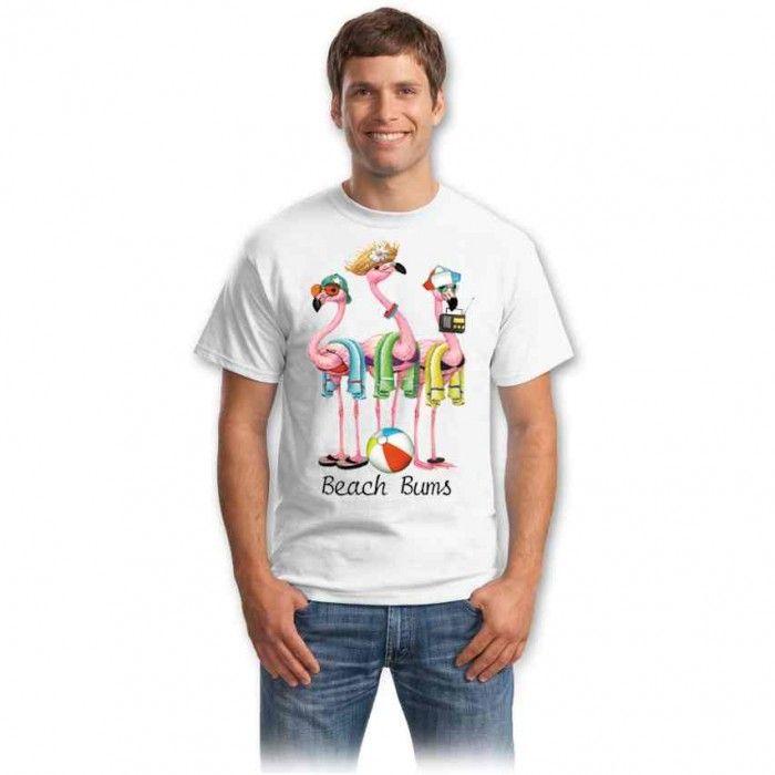 Cadouri pentru iubitorii de animale – Tricou Cocostarcul de pe plaja