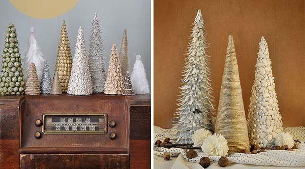 DIY vianočné nápady s návodmi na dekoračné handmade stromčeky