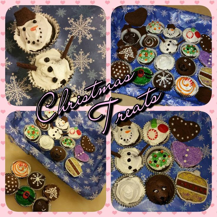 """I made these treats with @SunShineGier97 & Senija :) #Christmas #Treats #ChristmasTreats #CupCakes #Baking #Decorating #DIY #SnowMan #Cookies #Candy…"""