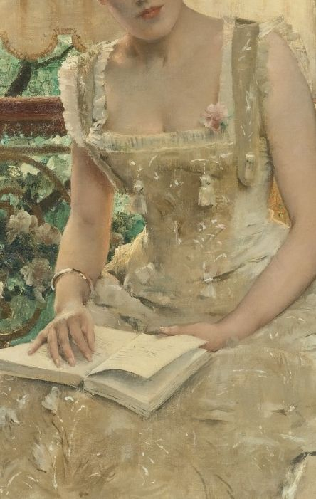 La femme et l'amour (L'amour qui vient) (1885) detail, Alfred Stevens (1823-1906)