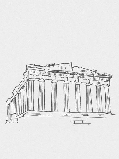 Acrópole Minimalista - On The Wall | Crie seu quadro com essa imagem https://www.onthewall.com.br/design-by-on-the-wall/minimalista/tower-bridge-minimalista-2416 #quadro #canvas #moldura #grécia #atenas #minimalista
