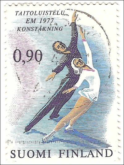 Stamp - European Figure Skating Championships in Helsinki, 1977