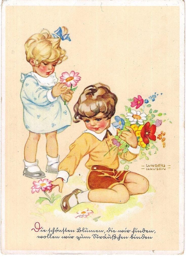 Немецкие открытки с о школой, открытке новым