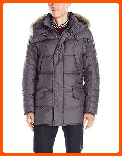 Marc New York by Andrew Marc Men's Stowaway Ultra Down Parka, Steel, Large - Mens world (*Amazon Partner-Link)